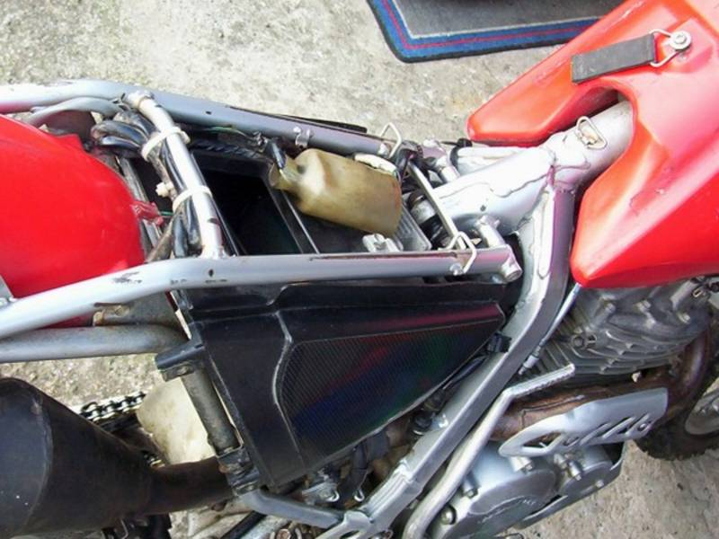 Airboxwithoutsnorkel on Honda Xr250r