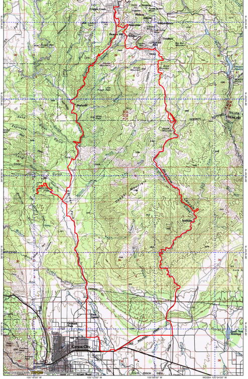 Cotopaxi colorado map my blog for Colorado fishing map