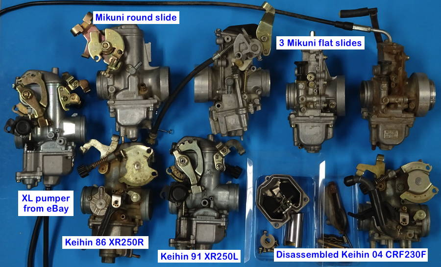 XR250R Carb Notes