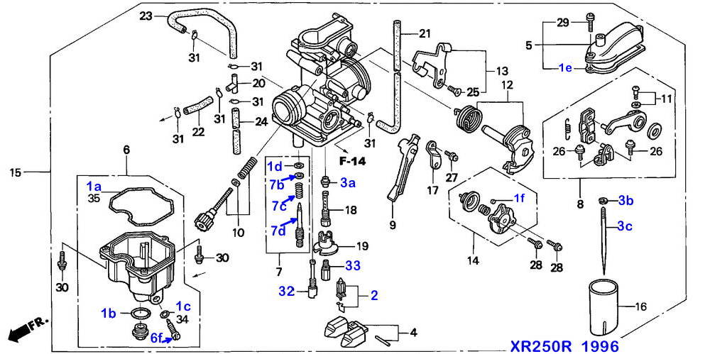 Honda Carb Diagram Cleaning - Technical Diagrams on